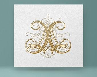 Digital monogram AA | Wedding Monogram AA