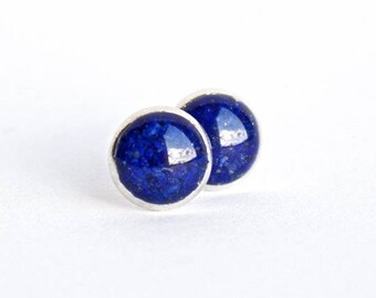 FREE SHIPPING // Lapis Lazuli Earrings // Lapis Lazuli Studs // Lapis Lazuli Jewelry // Lapis Lazuli Crystal // Blue Earrings // Blue