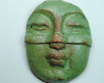buddha head ceramic buddha mask paperweight zen decor