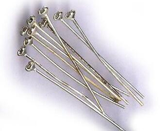 vintage RHINESTONE HEAD PINS one dozen rhinestone bendable headpins silvertone prong set, clear crystal