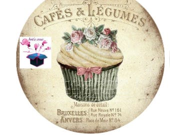 1 cabochon clear 18 mm theme cake