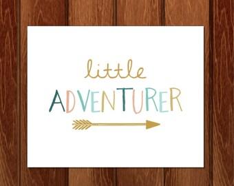 Little adventurer print, Little adventurer printable, Printable nursery art, Instant Download