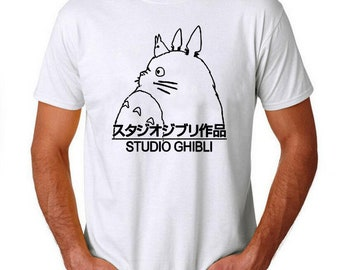 Studio Ghibli Tee, Totoro, Spirited Away, Howl Moving, Castle, Kiki, No Face, Mononoke Japanese style Short sleeve men T-shirt Cartoon