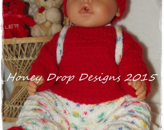 Baby Born #1 - To fit 16-17 Inch Dolls - PDF Knitting Pattern