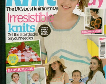 Knit Today Knitting Magazine Issue 75 August 2012