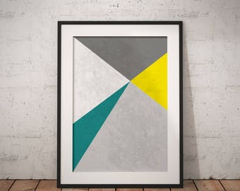 Mid Century Wall Print, Scandinavian Print Art, Minimalist Geometric Wall Decor, Modern Prints, Best Selling Art #MidCenturyCollection Nº1