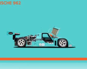 Porsche 962 Gloss Print