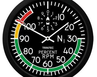 "Trintec 10"" Modern RPM Round Clock 2067-10"