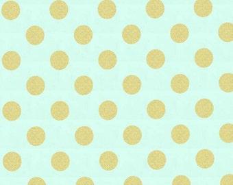 Mist Quarter Dot Pearlized by Michael Miller Fabrics