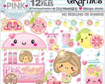 Pink Lemonade, Clipart, 80%OFF, Clip Art, Lemonade Graphics, Summer Clipart, Summer Graphic, Summer Party, Pink Lemonade