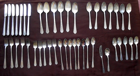 Vintage Silverware Set Wm Rogers And Son Silverplate