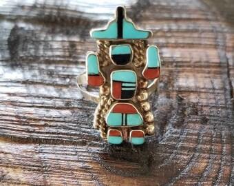 Kachina Zuni Ring! Native American Jewelry!