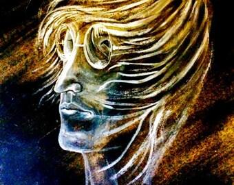 Lennon portrait / Free  delivery