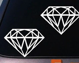 2 Diamond Vinyl Decals Car Sticker Truck Suv Boat *C268*