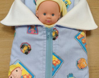 """Dolls sleeping bag and pillow/ Sleeping bag and pillow for 7"""" doll/ With doll or without doll"""