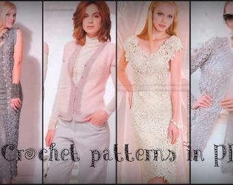 31 Crochet patterns Irish Lace, Knit Dress 603