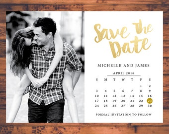Wedding Save The Dates Etsy IN - Save the date calendar template