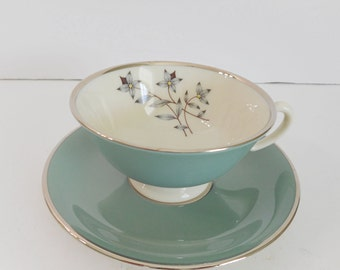 Lenox by Kingsley Teacup and Saucer X-445 Made in USA Excellent Condition This is for one set but 9 are Available