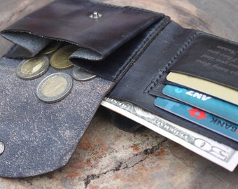 Dad or Husband Christmas Gift, Personalized Gift for Boyfriend, Mens Leather/ Wallet with Coin Pocket/ Gift for boyfriend/ D194