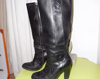 HUGO BOSS size 35 en leather boots