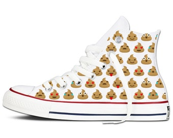 Emoti Poo Custom Chucks Hightops