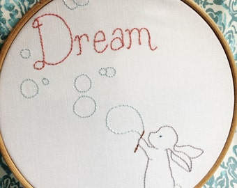 Sweet Bunny Dreams- PDF Hand embroidery Pattern