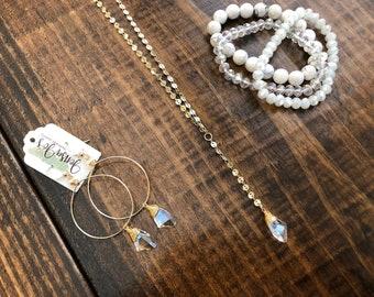 "Swarovski lariat ""y"" necklace"
