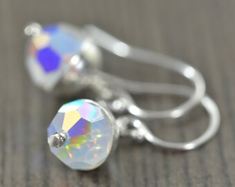Opal earrings October birthstone earrings opal crystal earrings Libra Scorpio jewelry personalized jewelry gifts for her