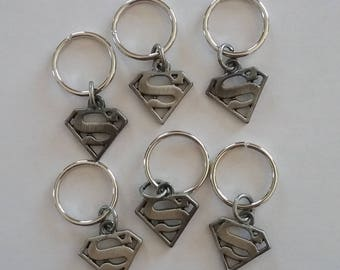 Superman stitch markers