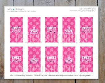 Sweet 16 Candy Bar Wrappers / Pink Sweet 16 / Instant Download / PRINTABLE / 5157