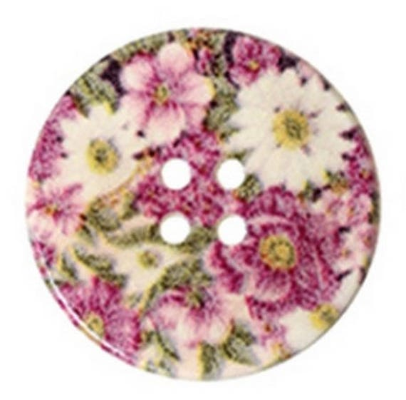 BBR30252 - 2 BUTTONS ROUND 30 MM WOODEN PATTERN WITH COLORS