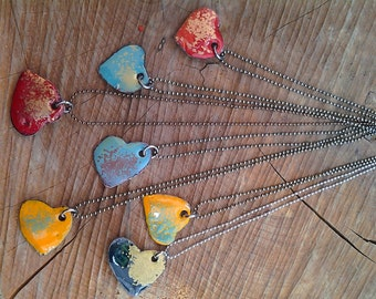 Colorful heart necklace!
