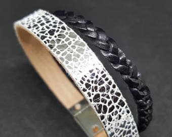 """""""CRACKLE"""" leather strap"""