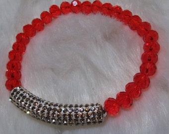 Crystals Tube Bracelet