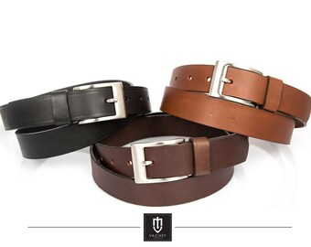 Leather belt, high quality handmade 30mm wide full grain cow leather belt