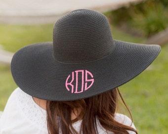Monogrammed Floppy Hat / Monogrammed Beach Hat / Beach Hat