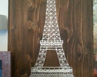 Eiffel Tower String Art