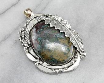 Chrysocolla Pendant, Large Stone Pendant, Gemstone Pendant, Statement Pendant E3QD4NE7-C