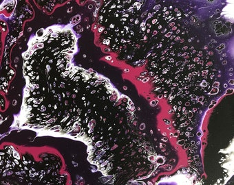Abstract Acrylic Painting / fluid art