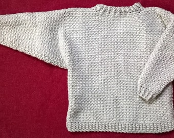 Child's Crochet Sweater for a Child - Boy or Girl Age 2-3