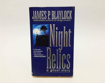 Vintage Horror Book Night Relics by James P. Blaylock 1996 Paperback