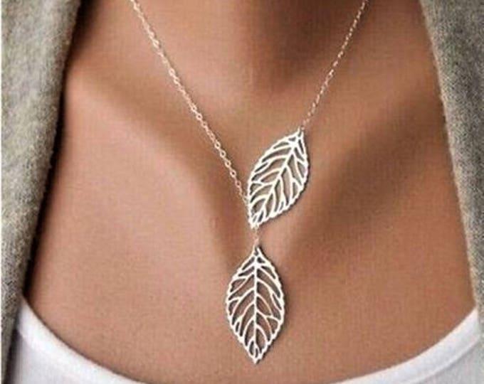 Leaf necklace, leaf charm necklace, gold filled leaf necklace, leaf necklaces for women, leaf charm, thin necklaces for women, botanical