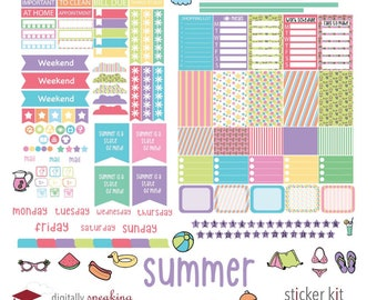 Summer Fun Digital Planner Stickers for iPad Goodnotes Precropped