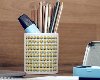 Face with Tears of Joy Emoji Smile Pattern Emoji Pencil Pot, Pencil Holder, Pen Pot, Pen Holder, Gift Idea, Children Gift, PP019
