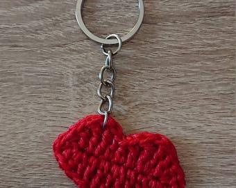 Keychain kisses / lips