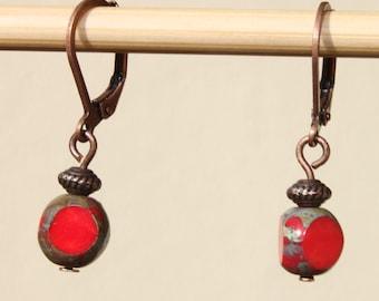 Red Earrings Jewelry Dangle Drop Earrings Small Earrings Everyday Earrings Gift for her Gift for women Christmas Gift Ideas