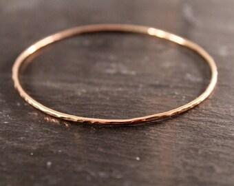 Closed Bangles - ONE BANGLE (Rose Gold Sterling Silver Gold Bracelet Bangles Bridesmaid Wedding Gift for her Under 50)