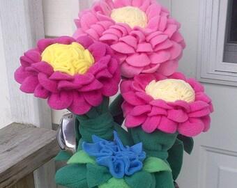 Golf Club Head Covers, set of 4 ladies flower design