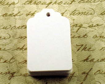 50 Funky Tags  Paper Gift Tags Price Tags in  Snowy White