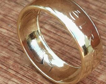 20p Ireland Coin ring....Handmade in the Republic of Ireland.